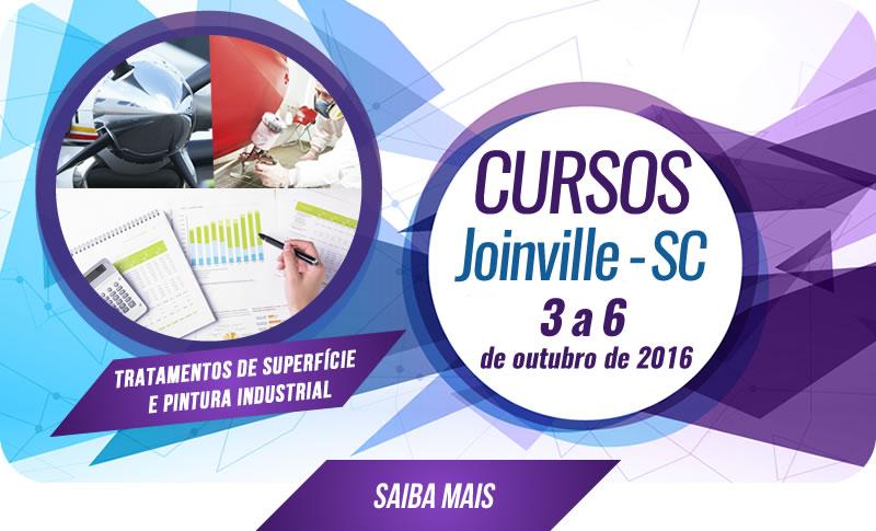 Cursos em Joinville - SC - 03 a 06 de outubro de 2016