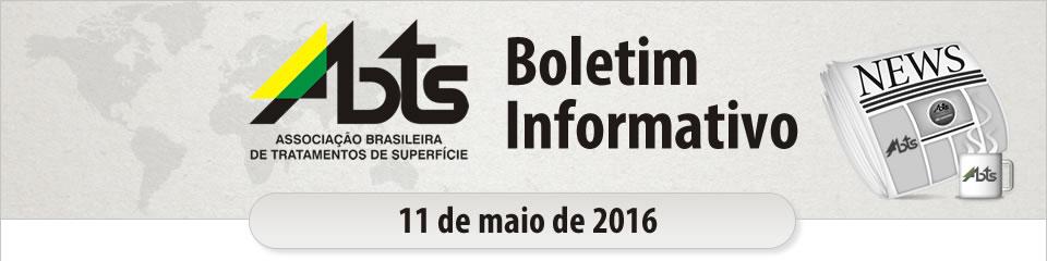 ABTS - Boletim Informativo - 11 de maio de 2016
