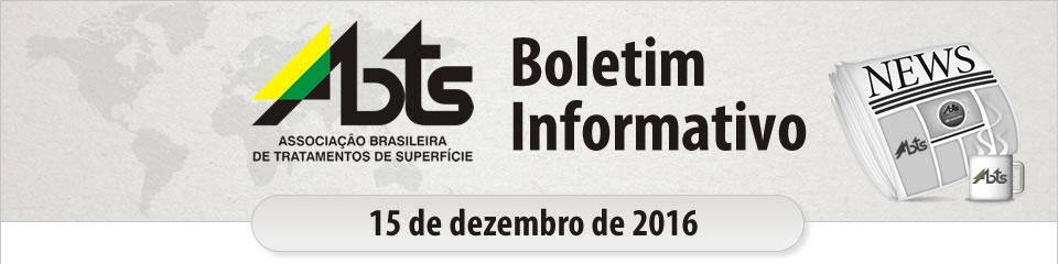ABTS - Boletim Informativo - 15 de dezembro de 2016