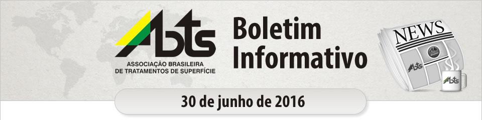 ABTS - Boletim Informativo - 30 de junho de 2016