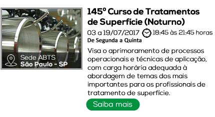 145º Curso de Tratamentos de Superfície - NOTURNO