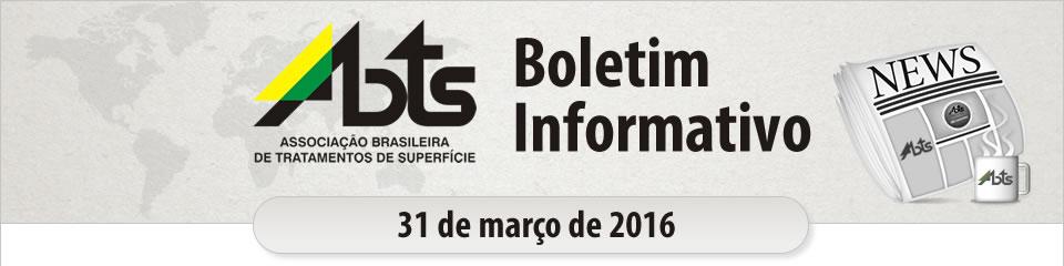 ABTS - Boletim Informativo - 30 de março de 2016